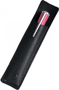 Mini Liberte Pen Slot – Grained Black Leather