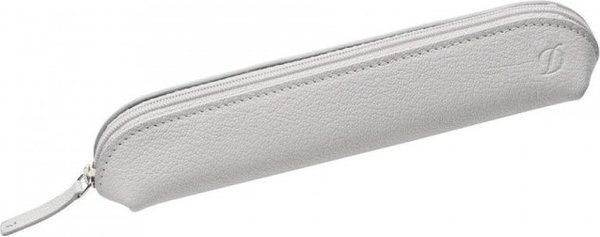 Liberté 2/3 Pen Case – Grained White Leather