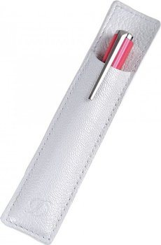 Mini Liberte Pen Slot – Grained White Leather