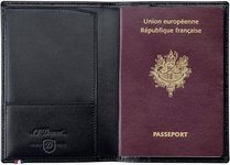 Line D Passport Cover - Black Elysée