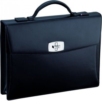 Line D Tourniquet Brief Case -Black Elysée