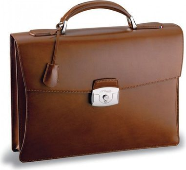Line D Briefcase – Brown Elysée