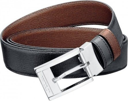 Ligne D Belt Business Reversible Grained Delta Box